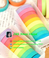 Wholesale Small Size Rainbow Color Paper Tape Cute Masking Tape Decorative Stickers Stationery Scrapbooks DIY Gifts