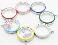 Wholesale mix order mm floating charms locket different enamel living locket on sale