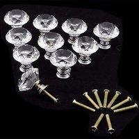 glass cabinet knobs - drawer knob mm Diamond Crystal Glass Alloy Door Drawer Cabinet Wardrobe Pull Handle Knobs Cabinet Furniture Handle Knob Screw do