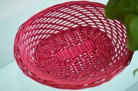 Wholesale Hot Sale Willow Wicker Storage Basket handmade colorful