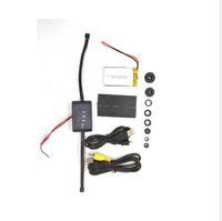 Wholesale T188 Dual lens digital video remote control box camera with motion detection Diy camera Battery big Module spy camera detective camera