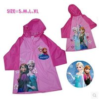 big boys raincoat - frozen child raincoat big boy girl anna alsa children raincoat size S M L XL