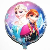 Wholesale Hot x45cm Frozen Balloon For Birthday Party Princess Anna Elsa Inch Round Aluminum Foil Cartoon Helium Balloons Cheaper Activity Toys