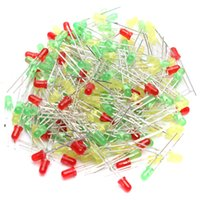 Wholesale 60PCS Bag mm LED Light Yellow Red Green Color Assorted Kit LED Diodes Home Garden DIY Party Wedding