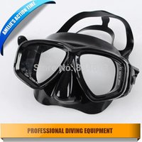 scuba diving equipment - Full Black diving equipment for adult swimming sea diving products silicone scuba diving mask