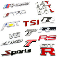 Door auto plastic materials - Excellent D Metal Sports TRD RS GTR TSI Rline ABT WD V6 Emblem Car Truck Motor Sticker Auto Decal Cool Decal