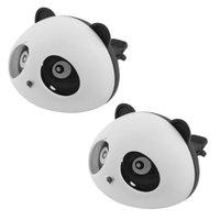car perfume - 2 Black White Panda Shaped Car Air Freshener Perfume w Two Clips