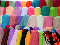 Wholesale Cheap Chiffon Dress Fabric Mutil Colors kinds meters wide meters Fashion Bright Pure D Soft Dress Material