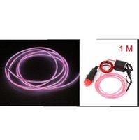 Wholesale 1PCS M New EL Wire Rope Car Party Dance Decor Flexible Neon Light Glow with Controller