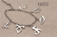 rune - 2016 New The Mortal Instruments City Of Bones Runes Charms sterling silver Bracelets Movies Jewelry ZJ