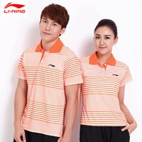 Wholesale LI NING Sudirman CHINA National team Fans Polo Shirts Badminton Quick Dry Lining Men badminton T shirt APLK097 APLK046