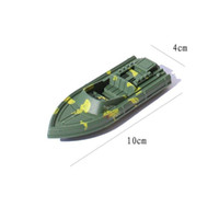 army boat toy - 1pcs set Army green boats military simulation model military boat Plastic parts nautical equipment nostalgic toy