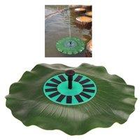 Wholesale Solar power Lotus Leaf Fountain Floating Brushless Decoration Pump Kit with Monocrystalline Solar Panel Bird Bath Garden Pond