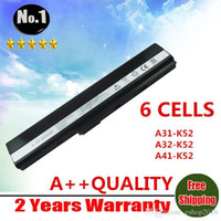Wholesale laptop battery for Asus A52 A52J K42 K42F K52F K52J NXM1B2200Z A31 K52 A32 K52 A41 K52 A42 K52 cells