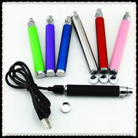 Cheap 1100mah eGo U battery Best Adjustable Electronic Cigarette Ego t USB Battery