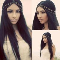 Wholesale Women Fashion Metal Rhinestone Head Chain Jewelry Headband Head Piece Hair band