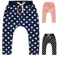 Wholesale Baby Boys Girls Polka dots harem pants Children Cotton Loose Casual Pants Kids Dot Trousers Boys Clothing Child Clothes Kids weear