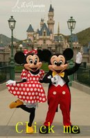 ratón Mickey clásico de alta calidad y traje de la mascota del ratón de Minnie Mickey y Minnie traje de la mascota envío rápido