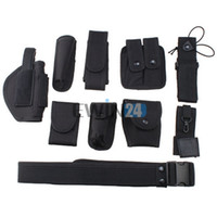 Wholesale Black Police Security Modular Equipment System Duty Belt Holster Molded Nyon Set New and Hot Selling