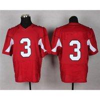 Cheap Red Football Jerseys Hot Sale Top Selling #3 American Football Wears Cheapest Mens Sport Uniform Team Sport Jerseys Outdoor Apparel Kits