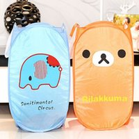 Wholesale New Lovely Durable Cartoon Foldable Clothes Animal Laundry Basket Storage Practical Hamper Bag