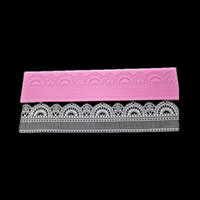 cake decoration - Brand Anself Elegant Lace Mat Fondant Embosser Wedding Cake Toppers Lace Silicon Mat Cake Decoration Tool LFM