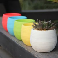 Wholesale Flower Pots Mini Flowerpot Garden Unbreakable Plastic Nursery Pots