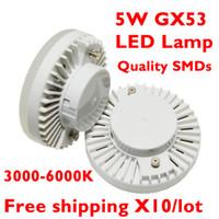 SMD gx53 - GX53 LED Spotlight Bulb SMD2835 D Beam Angle SMD Downlight K K K V W Replace W Halogen Lamp for Home