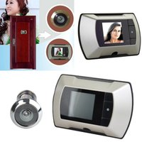 Wholesale 2014 New Arrival quot LCD Night Vision Home Security Wide Angle Electronic Viewer Eye Door bell HD Camera Peephole b4