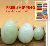 Wholesale jade eggs for Kegel Exercise set egg pelvic floor muscles vaginal exercise jade eggs kegel exercise for women