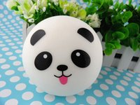 kawaii - Panda expression Jumbo Squishy Buns24pcs cm Kawaii slow rising Squishies mix order wholsale