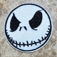 Wholesale HOT SALE JACK SKELLINGTON Nightmare Before Christmas Iron On Patches Made of Cloth Guaranteed Quality Appliques