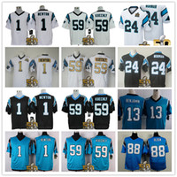 Cheap Cheap mens Super Bowl 50 Patch american football jerseys #59 Luke Kuechly Jersey #1 Cam Newton #88 Greg Olsen stitched Logo Eelite Jerseys
