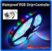 Wholesale Flexible Xmas LED Strips RGB LED String M Leds RGB light Strip Waterproof Keys IR Remote Controller V A Power