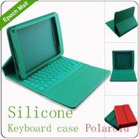 Al por mayor-Home Utilizando caso de cuero con tapa plegable teclado impermeable de silicona para 7 / 7,7 / 7,89 pulgadas de la tableta, Samsung Galaxy Tab polaroid