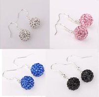 Wholesale Special offer order Shamballa Jewlelry AB Clay Disco Balls Crystal SBL Studs Earrings pairs mixed colors