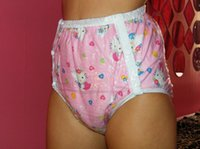 Wholesale NICEDIAPER2221 Pink cat Diaper cover waterproof trousers incontinence products ABDL