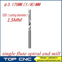 Wholesale 3 mm diameter single flute sprial end mill drill bit