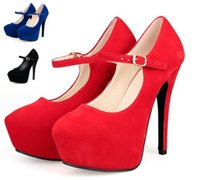 mary jane - Sexy red strappy thin heels high platform mary jane shoes women shoes formal party wedding shoes size to