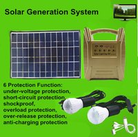 camping light - High quality solar generation kit solar lighting kit with LED blubs polycrystalline silicon solar used in outdoor camping
