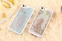 fresh apple - New fashion Romantic Love Heart for IPhone case Glitter Waterfall fresh cell phone back cover case for IPhone carcasas