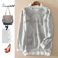 Wholesale Women s day single original single spring sweet lace stitching wild long sleeved sweater coat female CH