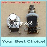 100pcs / Lot DPDT que engancha ON / ON El botón del efecto de la guitarra pisa fuerte el interruptor del pie del pedal (envío libre de DHL)