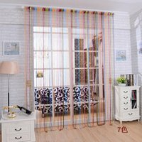 Wholesale Fashion Colorful String Curtain Door Window Curtain Drapery Panel Valances Curtain AF0167