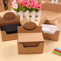 Wholesale 100 sheets boxed Retro kraft paper jam message word cards business cards jams Memo Pads x6CM High Quality