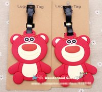 big bad bags - 2pcs Strawberry bear lage tag BAG TAG School bag key chain ring kids Christmas gift girls toy movie anime toy story bad bear