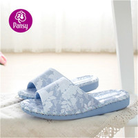 Wholesale Hand Made Pansy Comfort Shoes Sofa Material Indoor Slippers For Ladies
