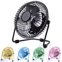 Wholesale USB Desk Fan Portable Fashionable Super Mute Mini USB Desk Fan For PC Cooler Cooling Laptop