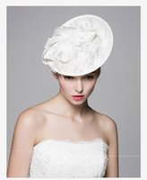 sinamay hat - Wedding Bridal Cocktail Patty Hats Lace Flower Fascinator Mini Hat Prom Evening Special Event Hair Accessories New Elegant Style WH008