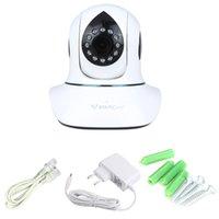 Wholesale IP Camera Plug Play PnP P2P Network Webcam Pan Tilt Wireless Wifi Micro SD Card Security IR Cut Vstarcam T7838WIP H P HD